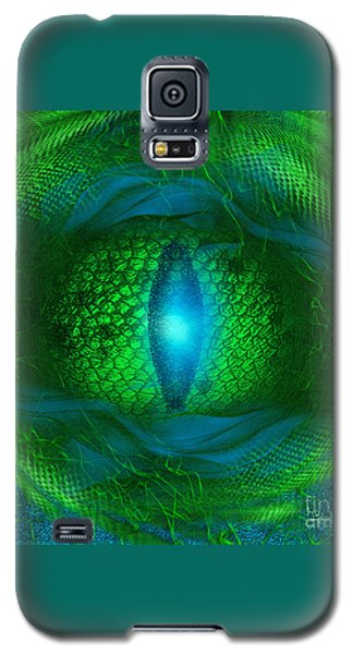 Galaxy S5 Case featuring the digital art Lucky Dragon's Eye - Abstract Art By Giada Rossi by Giada Rossi