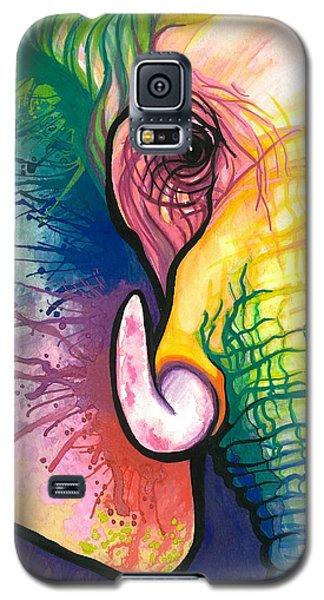 Elephant Galaxy S5 Case - Lucky Elephant Spirit by Sarah Jane