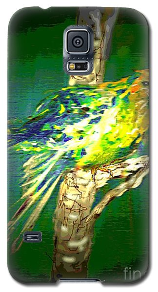 Galaxy S5 Case featuring the painting Lucky Louie by Desline Vitto