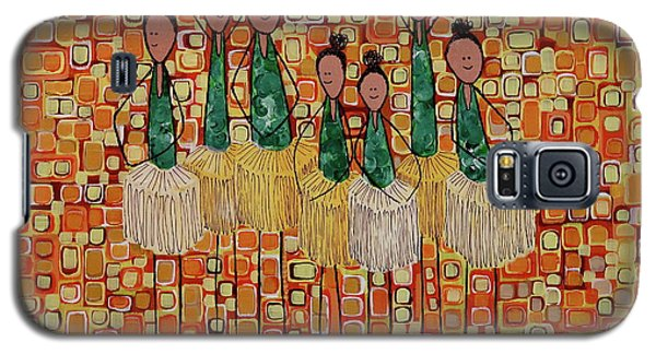 Galaxy S5 Case featuring the painting Lucky Seven by Donna Howard
