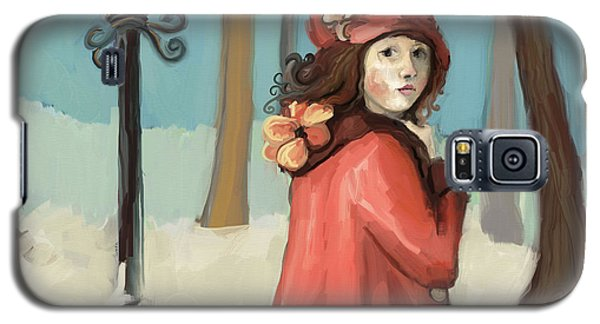 Girl In The Snow Galaxy S5 Case