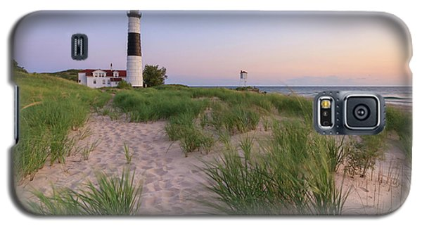 Galaxy S5 Case featuring the photograph Ludington Beach And Big Sable Point Lighthouse by Adam Romanowicz