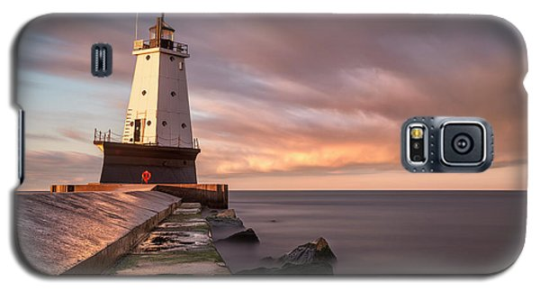 Galaxy S5 Case featuring the photograph Ludington Light Sunrise Long Exposure by Adam Romanowicz