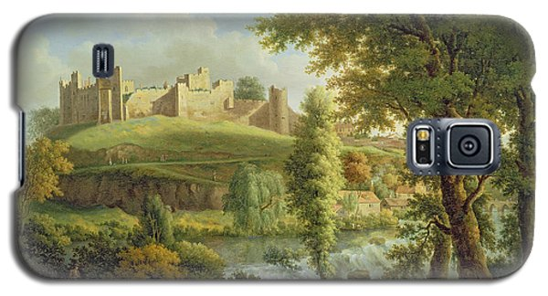 Ludlow Castle With Dinham Weir Galaxy S5 Case by Samuel Scott