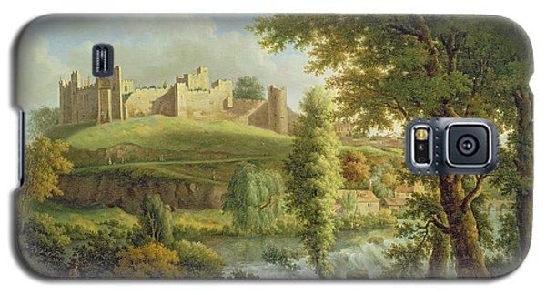 Castle Galaxy S5 Case - Ludlow Castle With Dinham Weir by Samuel Scott