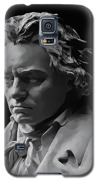 Galaxy S5 Case featuring the mixed media Ludwig Van Beethoven by Daniel Hagerman