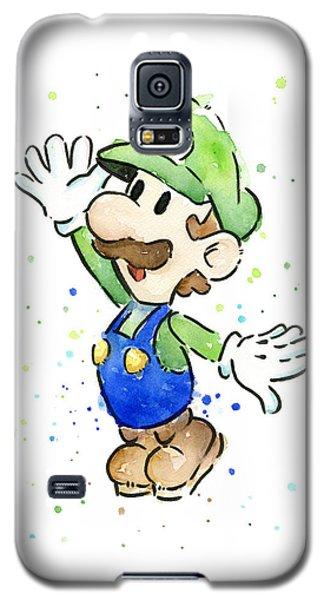 Watercolor Galaxy S5 Case - Luigi Watercolor by Olga Shvartsur