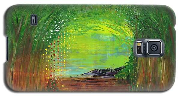 Galaxy S5 Case featuring the painting Luminous Path by Corinne Carroll