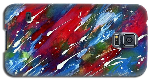 Galaxy S5 Case featuring the painting Luminous Rain by Patrick Morgan