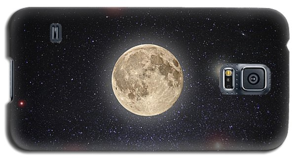 Moon Galaxy S5 Cases - Luna Lux Galaxy S5 Case by Steve Gadomski