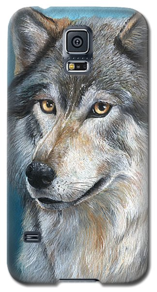 Galaxy S5 Case featuring the painting Luna by Sherry Shipley