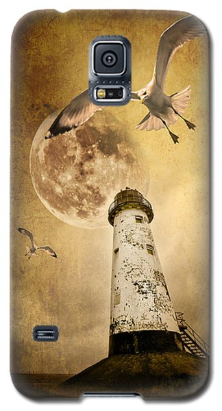 Seagull Galaxy S5 Case - Lunar Flight by Meirion Matthias