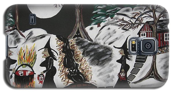 Galaxy S5 Case featuring the painting Lunch by Jeffrey Koss