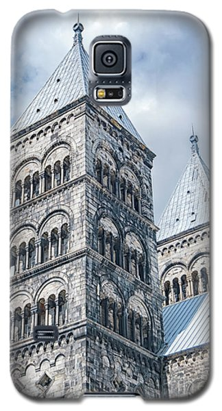 Galaxy S5 Case featuring the photograph Lund Cathedral In Sweden by Antony McAulay