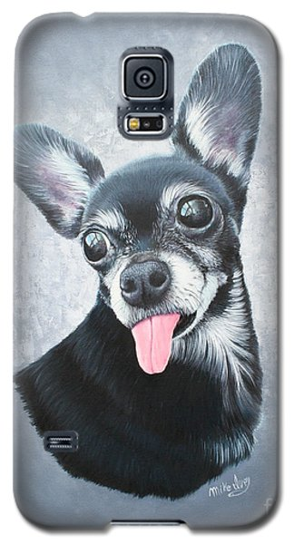 Galaxy S5 Case featuring the painting Lupe by Mike Ivey