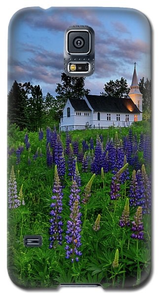 Lupines By The Church Galaxy S5 Case