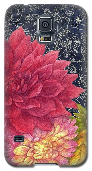 Galaxy S5 Case featuring the painting Lush Fall Botanical by Judith Cheng