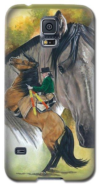 Galaxy S5 Case featuring the painting Lusitano by Barbara Keith
