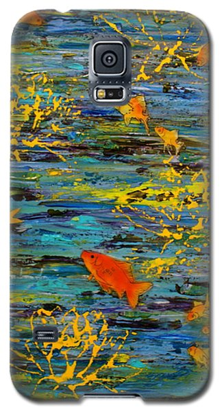 Galaxy S5 Case featuring the painting Lux by D Renee Wilson