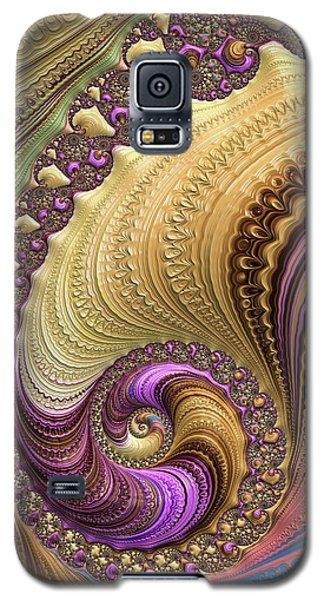 Luxe Colorful Fractal Spiral Galaxy S5 Case