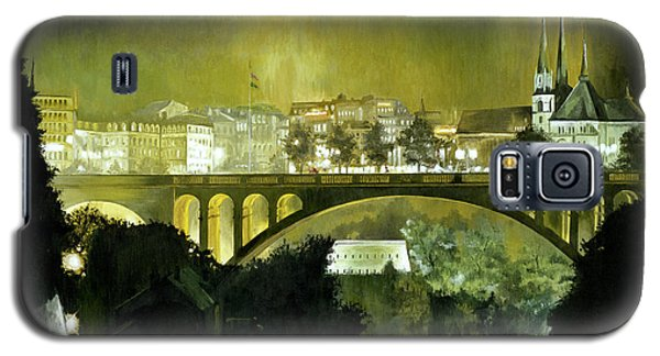 Galaxy S5 Case featuring the painting Luxembourg by Michael Frank