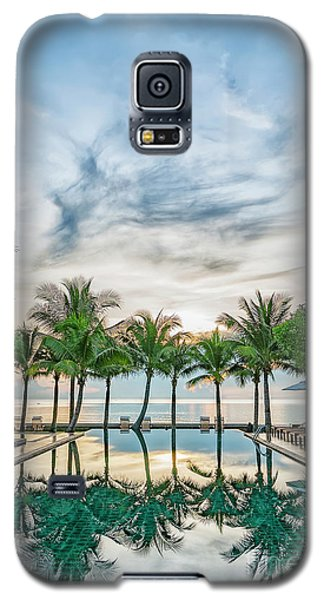 Galaxy S5 Case featuring the photograph Luxury Pool In Paradise by Antony McAulay