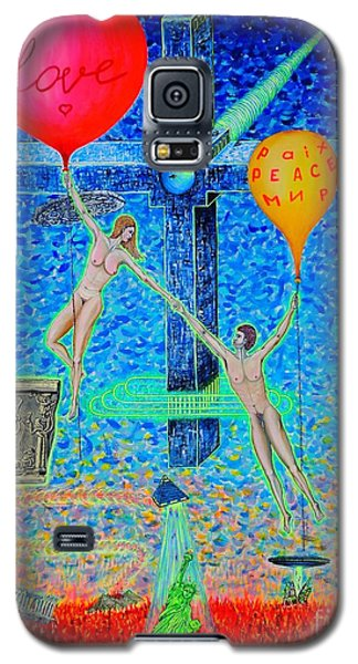 Galaxy S5 Case featuring the painting L.v P. by Viktor Lazarev