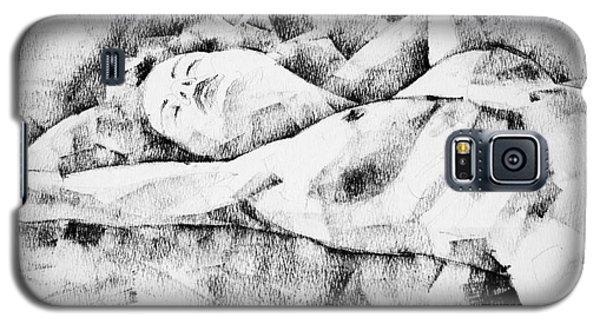 Lying Woman Figure Drawing Galaxy S5 Case