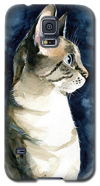 Lynx Point Cat Portrait Galaxy S5 Case