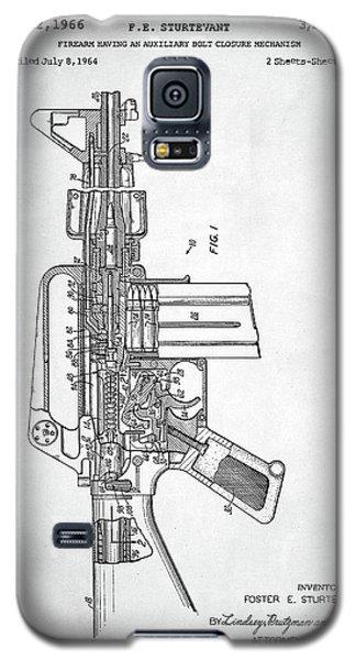 M-16 Rifle Patent Galaxy S5 Case by Taylan Apukovska
