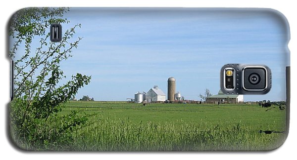 Galaxy S5 Case featuring the photograph M Angus Farm by Dylan Punke