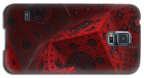 Galaxy S5 Case featuring the digital art M Cubed by Lyle Hatch