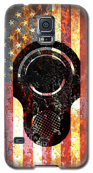 M1911 Colt 45 On Rusted American Flag Galaxy S5 Case