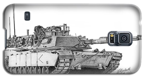 M1a1 D Company Commander Tank Galaxy S5 Case