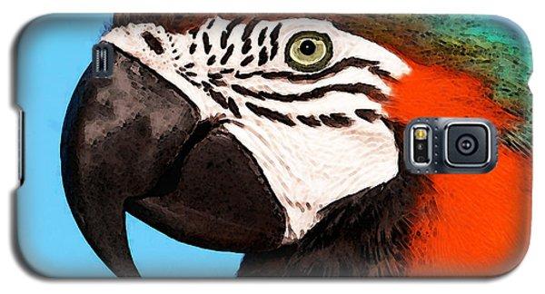 Macaw Galaxy S5 Case - Macaw Bird - Rain Forest Royalty by Sharon Cummings