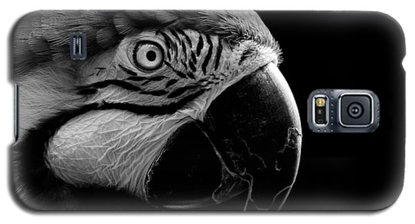 Macaw Parrot Portrait Black And White Galaxy S5 Case