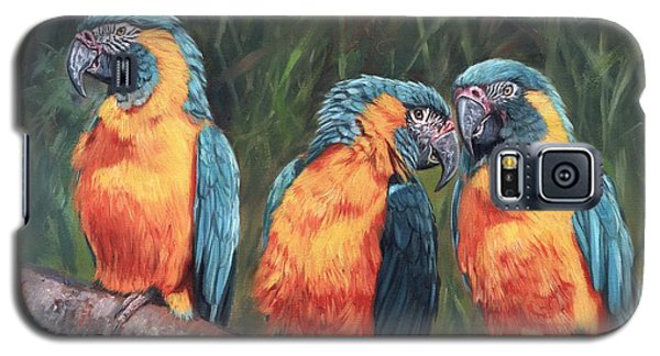Galaxy S5 Case featuring the painting Macaws by David Stribbling