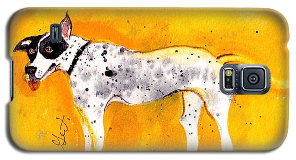 Galaxy S5 Case featuring the painting Mack The Pit/dalmatian by Gertrude Palmer