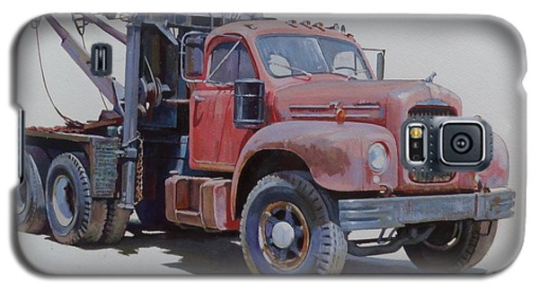 Galaxy S5 Case featuring the painting Mack Wrecker. by Mike  Jeffries