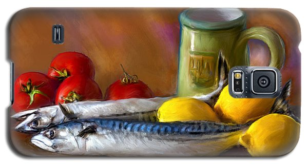 Galaxy S5 Case featuring the photograph Mackerels, Lemons And Tomatoes by Juan Carlos Ferro Duque