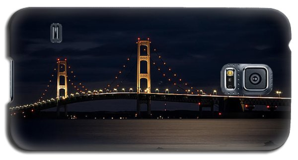 Mackinac Bridge At Night Galaxy S5 Case