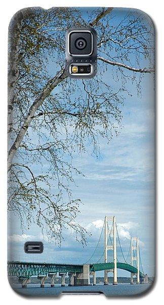 Mackinac Bridge Birch Galaxy S5 Case by LeeAnn McLaneGoetz McLaneGoetzStudioLLCcom