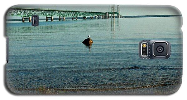Galaxy S5 Case featuring the photograph Mackinac Bridge Michigan by LeeAnn McLaneGoetz McLaneGoetzStudioLLCcom