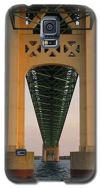 Mackinac Bridge Tower At Sunset Galaxy S5 Case