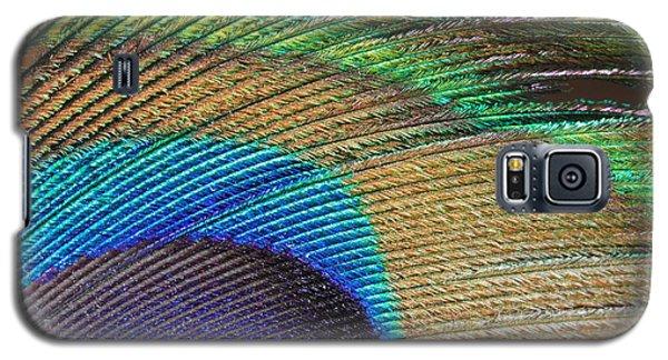Macro Peacock Feather Galaxy S5 Case