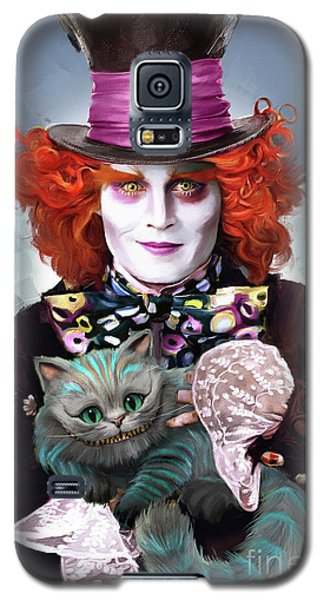 Mad Hatter And Cheshire Cat Galaxy S5 Case by Melanie D