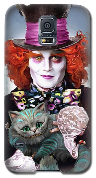 Johnny Depp Galaxy S5 Case - Mad Hatter And Cheshire Cat by Melanie D