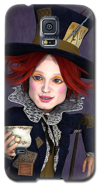 Mad Hatter Portrait Galaxy S5 Case by Methune Hively