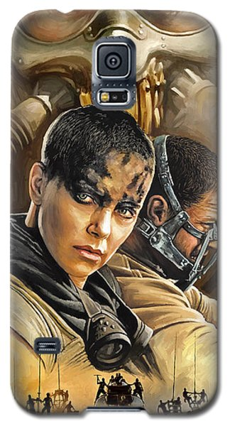 Galaxy S5 Case featuring the painting Mad Max Fury Road Artwork by Sheraz A