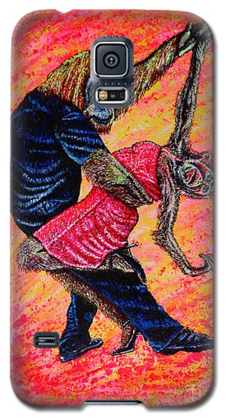 Galaxy S5 Case featuring the painting Madame... by Viktor Lazarev